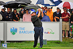 28 August 2009: Paul Goydos tees off during the second round of The Barclays PGA Playoffs at Liberty National Golf Course in Jersey City, New Jersey.