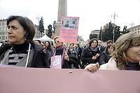 """Roma, 11 Dicembre 2011.Piazza del Popolo.Manifestazione delle donne per la partecipazione femminile in politica e economia..Da """"Se non ora quando?"""" a """"Se non ora chi?""""."""