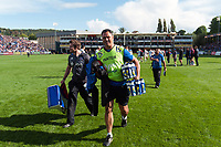 Bath Rugby Head Coach Tabai Matson leaves the field after the match. Aviva Premiership match, between Bath Rugby and Saracens on September 9, 2017 at the Recreation Ground in Bath, England. Photo by: Patrick Khachfe / Onside Images