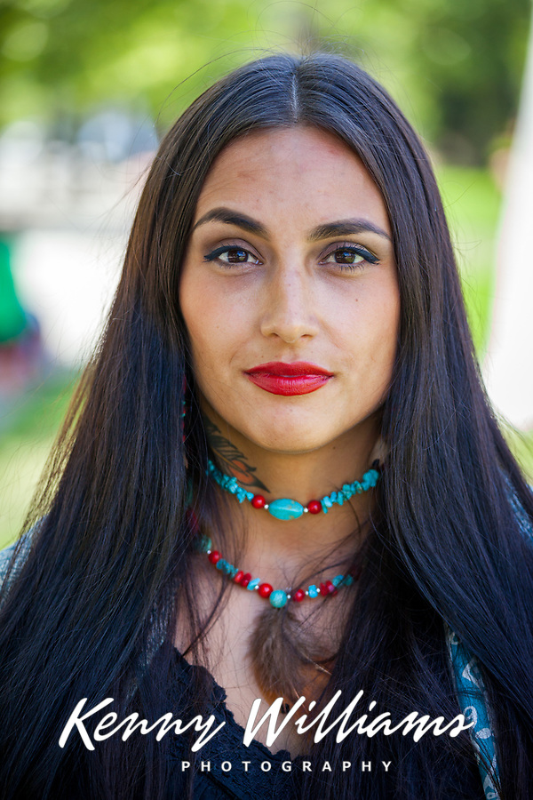 Beautiful Native American Woman, NW Folklife Festival, Seattle, WA, USA.