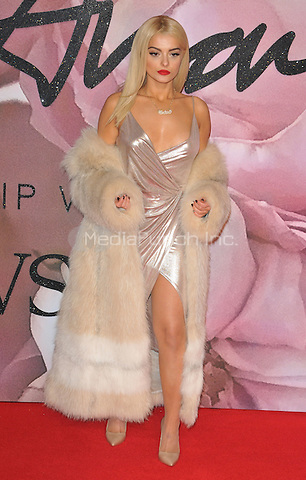 """Bleta """"Bebe"""" Rexha at the Fashion Awards 2016, Royal Albert Hall, Kensington Gore, London, England, UK, on Monday 05 December 2016. <br /> CAP/CAN<br /> ©CAN/Capital Pictures /MediaPunch ***NORTH AND SOUTH AMERICAS ONLY***"""