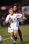 2 December 2005: UCLA's McCall Zerboni (6) is chased by FSU's Libby Gianeskis. The UCLA Bruins defeated the Florida State Seminoles 4-0 in their NCAA Division I Women's College Cup semifinal at Aggie Soccer Stadium in College Station, TX.