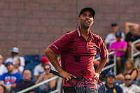 NEW YORK, USA - August 22 James Blake gestures during his exhibition game against Andy Roddick on August 22, 2019 in New York, USA.<br /> People attend US Open the fan week with Featured practice matches with Roger Federer and Novak Djokovic <br /> (Photo by Luis Boza/VIEWpress)