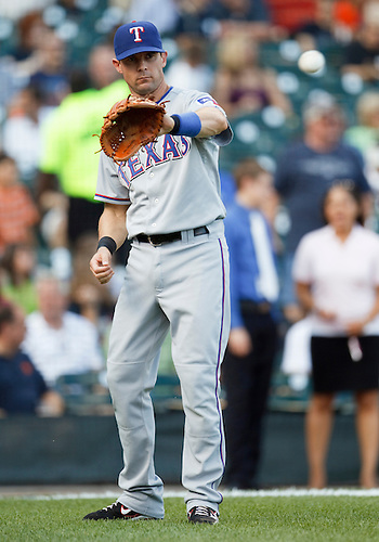 July 21, 2010: Texas Ranger third baseman Michael Young (#10) during game action between the Texas Rangers and Detroit Tigers at Comerica Park in Detroit, Michigan.  The Tigers defeated the Rangers 4-1.