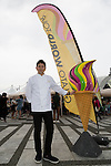 Head pastry chef Hiroyuki Emori poses for a picture during the Gelato World Tour on September 5, 2015, Tokyo, Japan. Over 3 days visitors to the Tokyo event can taste 16 flavours of gelato and will chose the top three flavours to represent the Far East Asia region at the Grand Finale of Gelato World Tour 2.0 to be held in Rimini, Italy in 2017. (Photo by Rodrigo Reyes Marin/AFLO)