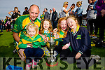 Charlotte O'Connor pictured with her uncle Sean Maunsell (Captain) at the St Brendans v Kilmoyley County Hurling final in Abbeydorney on Sunday.