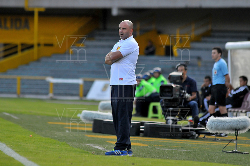 BOGOTÁ -COLOMBIA, 21-01-2015. Aspecto del encuentro entre Deportivo Pereira y America de Cali por la fecha 3 de los cuadrangulares de ascenso Liga Aguila 2015 jugado en el estadio El Campín de la ciudad de Bogotá./ Aspect of the match between Depórtivo Pereira and America de Cali for the Third date of the promotional quadrangular Aguila League 2015 played at El Campin stadium in Bogotá city. Photo: VizzorImage/ Cristian Alvarez /Cont