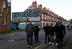 Leicester City fans arrive for the Premier League match against Chelsea at the King Power Stadium, Leicester. Picture date: 1st February 2020. Picture credit should read: Darren Staples/Sportimage