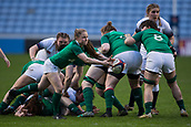 16th March 2018, Ricoh Arena, Coventry, England; Womens Six Nations Rugby, England Women versus Ireland Women; Nicole Cronin of Ireland passes the ball along her line