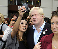 London - Mayor Boris Johnson attends Piccadilly Circus Circus event at Piccadilly Circus, London -  September 2nd 2012..Photo by Bob Kent