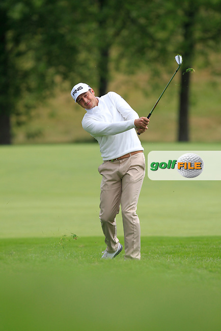 Julien Quesne (FRA) on the 1st fairway during Round 2 of the HNA Open De France  at The Golf National on Friday 30th June 2017.<br /> Photo: Golffile / Thos Caffrey.<br /> <br /> All photo usage must carry mandatory copyright credit      (&copy; Golffile | Thos Caffrey)