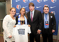 Jazmine Reeves, Cat Whitehill, Tom Durkin, Lee Billiard. The NWSL draft was held at the Pennsylvania Convention Center in Philadelphia, PA, on January 17, 2014.