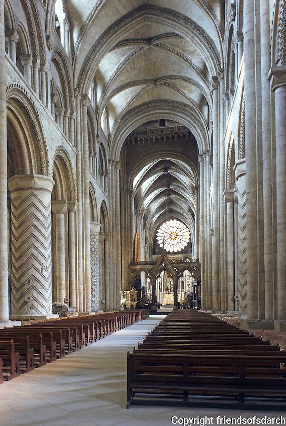 Durham: Durham Cathedral, Nave. Reference only.