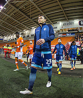 Will De Havilland of Wycombe Wanderers enters the field during the The Checkatrade Trophy match between Blackpool and Wycombe Wanderers at Bloomfield Road, Blackpool, England on 10 January 2017. Photo by Andy Rowland / PRiME Media Images.