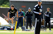 England train at Grange CC, Edinburgh in advance of tomorrow's match against Scotland - England bowler Jimmy Anderson at full tilt - Picture by Donald MacLeod 18.06.10 - mobile 07702 319 738 - words from William Dick 077707 83923