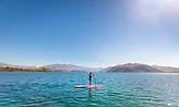 NEW ZEALAND, Wanaka, Standup Paddleboarding on Lake Wanaka, Ben M Thomas