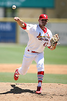 April 15, 2009:  Pitcher David Kopp (47) of the Palm Beach Cardinals, Florida State League Class-A affiliate of the St. Louis Cardinals, delivers a pitch during a game at Roger Dean Stadium in Jupiter, FL.  Photo by:  Mike Janes/Four Seam Images