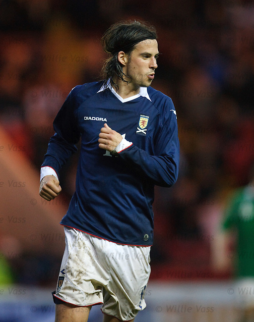 George Boyd celebrates his debut goal for Scotland