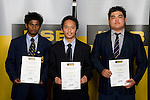 Boys Weigtlifting finalists Avantha Hewavitharana, Lou Guinares & Lewis Chua. ASB College Sport Young Sportperson of the Year Awards 2008 held at Eden Park, Auckland, on Thursday November 13th, 2008.