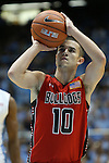 09 November 2012: Gardner-Webb's Max Landis. The University of North Carolina Tar Heels played the Gardner-Webb University Runnin' Bulldogs at Dean E. Smith Center in Chapel Hill, North Carolina in an NCAA Division I Men's college basketball game. UNC won the game 76-59.