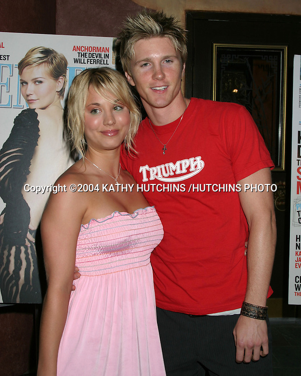 ©2004 KATHY HUTCHINS /HUTCHINS PHOTO.THE NEW POWER OF HOLLYWOOD.PREMIERE MAGAZINE PARTY.HOLLYWOOD, CA.JUNE 2, 2004..KALEY CUOCO.THAD LUCKINBILL