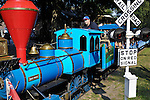 Miniature train at Toronto Island amuzement park. Toronto Ontario Canada.