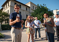 Cocktail reception and class photos in the Academic Quad.<br /> Occidental College alums enjoy a long weekend of activities and festivities both on campus and off during Alumni Reunion Weekend, June 22, 2013.<br /> (Photo by Marc Campos, Occidental College Photographer)