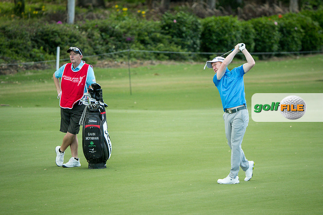 Gavin Moynihan (IRL) during the 3rd round of the AfrAsia Bank Mauritius Open, Four Seasons Golf Club Mauritius at Anahita, Beau Champ, Mauritius. 01/12/2018<br /> Picture: Golffile | Mark Sampson<br /> <br /> <br /> All photo usage must carry mandatory copyright credit (© Golffile | Mark Sampson)