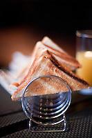 Toast in a rack as part of an Irish breakfast, Galway, Ireland.