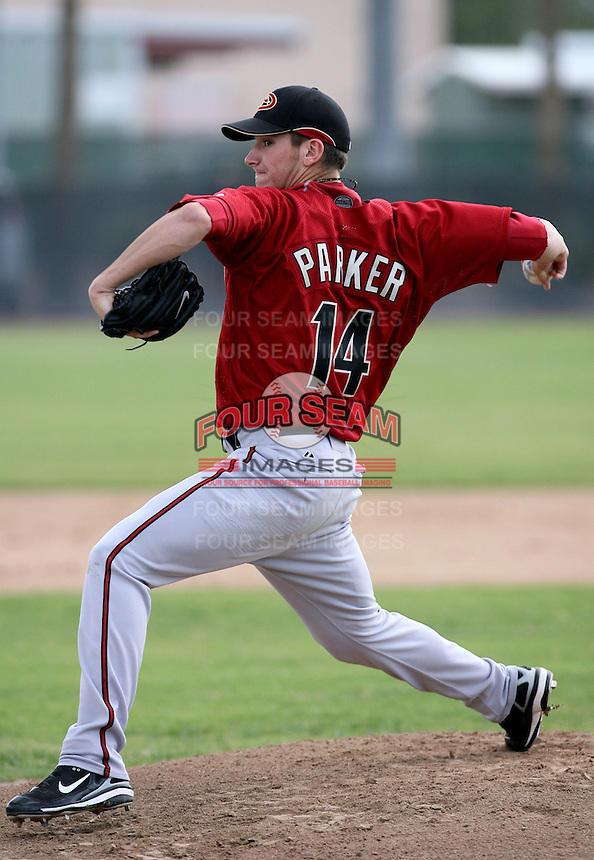 Jarrod Parker / Arizona Diamondbacks 2008 Instructional League..Photo by:  Bill Mitchell/Four Seam Images