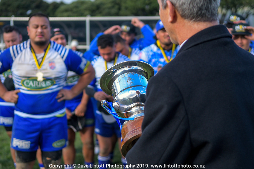 Action from the 2019 Wellington premier reserve Ed Chaney Cup rugby final between Northern United and Petone at Petone Rec in Wellington, New Zealand on Saturday, 27 July 2019. Photo: Dave Lintott / lintottphoto.co.nz