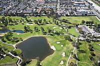 Aerial Stock Photo of Santa Ana Country Club Orange County