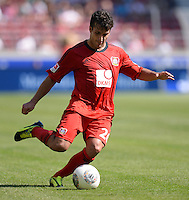 Fussball  1. Bundesliga  Saison 2013/2014  2. Spieltag VfB Stuttgart - Bayer Leverkusen     17.08.2013 Giulio Donati (Bayer 04 Leverkusen) am Ball