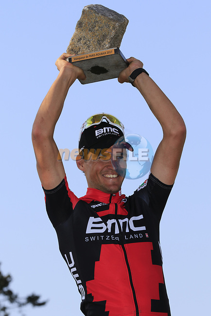 Greg Van Avermaet (BEL) BMC Racing wins the 115th edition of the Paris-Roubaix 2017 race running 257km from Compiegne to Roubaix, France. 9th April 2017.<br /> Picture: Eoin Clarke   Cyclefile<br /> <br /> <br /> All photos usage must carry mandatory copyright credit (&copy; Cyclefile   Eoin Clarke)