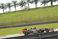 French Romain Grosjean on Lotus E20.24/03/2012 Grand Prix Malesia, Sepang , Essais..Foto Insidefoto  /Bernard Asset / Panoramic.ITALY ONLY..
