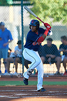 AZL Indians Red Marlin Made (22) at bat during an Arizona League game against the AZL Padres 1 on June 23, 2019 at the Cleveland Indians Training Complex in Goodyear, Arizona. AZL Indians Red defeated the AZL Padres 1 3-2. (Zachary Lucy/Four Seam Images)