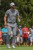 Dustin Johnson (USA) watches his tee shot on 4 during 1st round of the World Golf Championships - Bridgestone Invitational, at the Firestone Country Club, Akron, Ohio. 8/2/2018.<br /> Picture: Golffile | Ken Murray<br /> <br /> <br /> All photo usage must carry mandatory copyright credit (&copy; Golffile | Ken Murray)