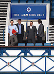 Rangers chief scout Neil Murray watching training at Ibrox from the Main Stand