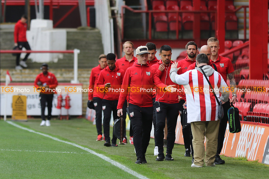 A Bees fan greets the Brentford team on their arrival at the ground during Brentford vs Derby County, Sky Bet EFL Championship Football at Griffin Park on 14th April 2017