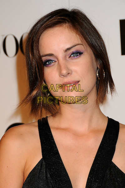 JESSICA STROUP .7th Annual Teen Vogue Young Hollywood Party held at Milk Studios, Los Angeles, California, USA, .25th September 2009..portrait headshot purple eyeshadow make-up bob hoop earrings black .CAP/ADM/BP.©Byron Purvis/AdMedia/Capital Pictures.