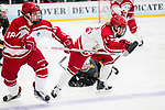 ADRIAN, MI - MARCH 18: Ashley Songin (12) of Plattsburgh State University chases a loose puck during the Division III Women's Ice Hockey Championship held at Arrington Ice Arena on March 19, 2017 in Adrian, Michigan. Plattsburgh State defeated Adrian 4-3 in overtime to repeat as national champions for the fourth consecutive year. by Tony Ding/NCAA Photos via Getty Images)