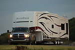 Dodge towing fifth wheel.
