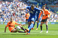 Cardiff City's Kenneth Zohore has a shot at goal <br /> <br /> Photographer Ian Cook/CameraSport<br /> <br /> The EFL Sky Bet Championship - Cardiff City v Reading - Sunday 6th May 2018 - Cardiff City Stadium - Cardiff<br /> <br /> World Copyright &copy; 2018 CameraSport. All rights reserved. 43 Linden Ave. Countesthorpe. Leicester. England. LE8 5PG - Tel: +44 (0) 116 277 4147 - admin@camerasport.com - www.camerasport.com