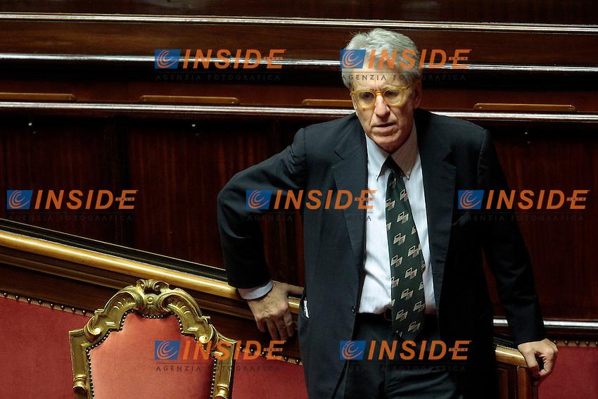 Luigi Manconi<br /> Roma 05-11-2013 Informativa in Aula al Senato da parte del Ministro della Giustizia sulla sua presunta intercezione nella faccenda Ligresti.<br /> Justice Minister's speech about her intrusion in the Ligresti's matter.<br /> Photo Samantha Zucchi Insidefoto