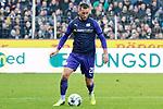 09.11.2019, Stadion an der Bremer Brücke, Osnabrück, GER, 2. FBL, VfL Osnabrueck vs. VfB Stuttgart<br /> <br /> ,DFL REGULATIONS PROHIBIT ANY USE OF PHOTOGRAPHS AS IMAGE SEQUENCES AND/OR QUASI-VIDEO, <br />   <br /> im Bild<br /> Marc Heider (VfL Osnabrück #20), Aktion / Einzelbild / Freisteller / mit Ball.<br /> <br /> <br /> Foto © nordphoto / Paetzel