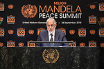 Opening Plenary Meeting of the Nelson Mandela Peace Summit<br /> <br /> tunisia FM