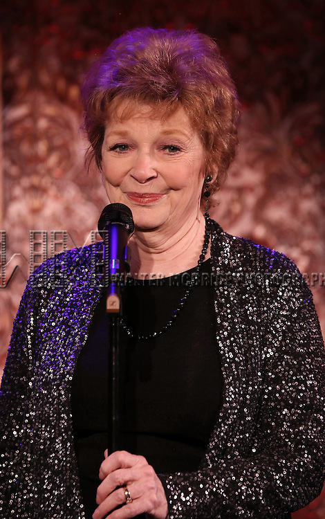 Anita Gillette performing 'Sin Twisters' at the 54 Below Press Preview on September 23, 2013 in New York City.
