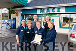 Staff from Mace store in Killgarvan with their Excellence in Retailing Award. Pictured L-R Marzena Herliczka, Mary Lynch, Padraig Sweeney, Juliette Healy Rae, Magdalena Lipinska and Eileen Healy Rae.
