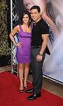 HOLLYWOOD, CA. - April 27: Mario Lopez and Courtney Mazza arrive at Eva Longoria Parker's Fragrance Launch Event at Beso on April 27, 2010 in Hollywood, California.