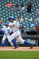 Ben Aklinski (52) of the Kentucky Wildcats follows through on his swing against the Sam Houston State Bearkats during game four of the 2018 Shriners Hospitals for Children College Classic at Minute Maid Park on March 3, 2018 in Houston, Texas. The Wildcats defeated the Bearkats 7-2.  (Brian Westerholt/Four Seam Images)